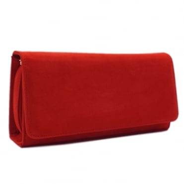 Lanelle Clutch Bag In Coral Red