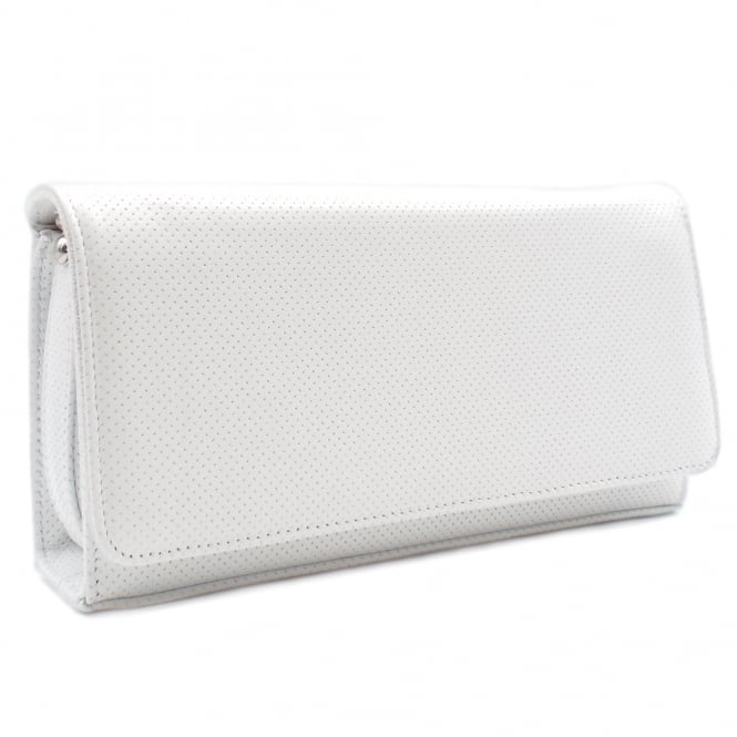 Peter Kaiser Lanelle Clutch Bag In White Pin
