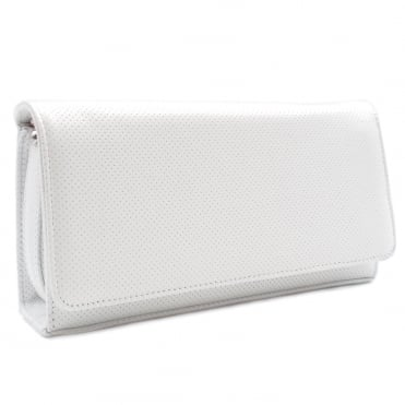 Lanelle Clutch Bag In White Pin