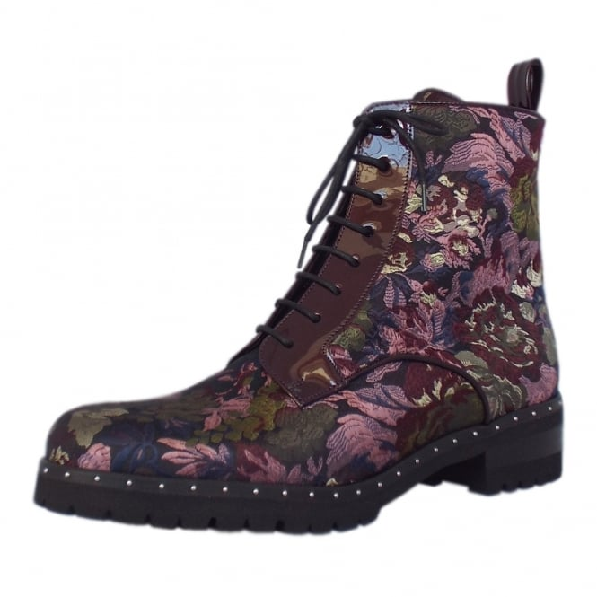 Peter Kaiser Lesatella Fashion Ankle Boots in Multi Flower