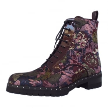 Lesatella Fashion Ankle Boots in Multi Flower