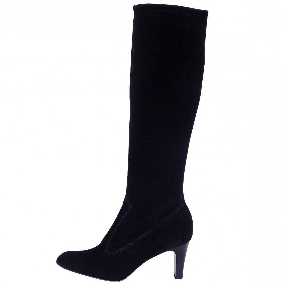 peter kaiser black suede boots low