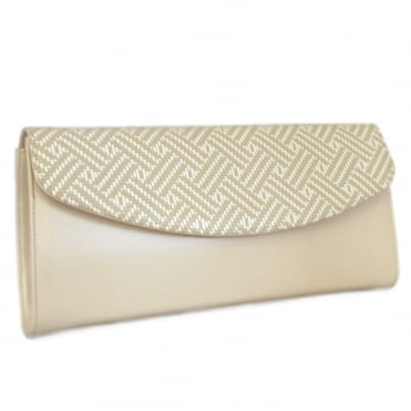 Liv Clutch Bag in Lana & Sabbia