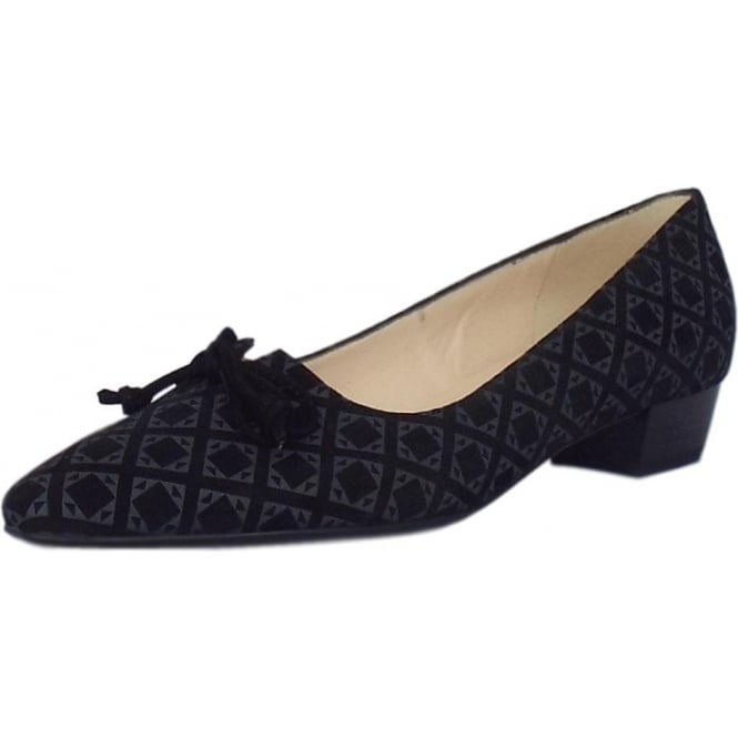 7f307506a7c4 Lizzy Pointed Toe Low Heel Courts in Fumo Tie Suede