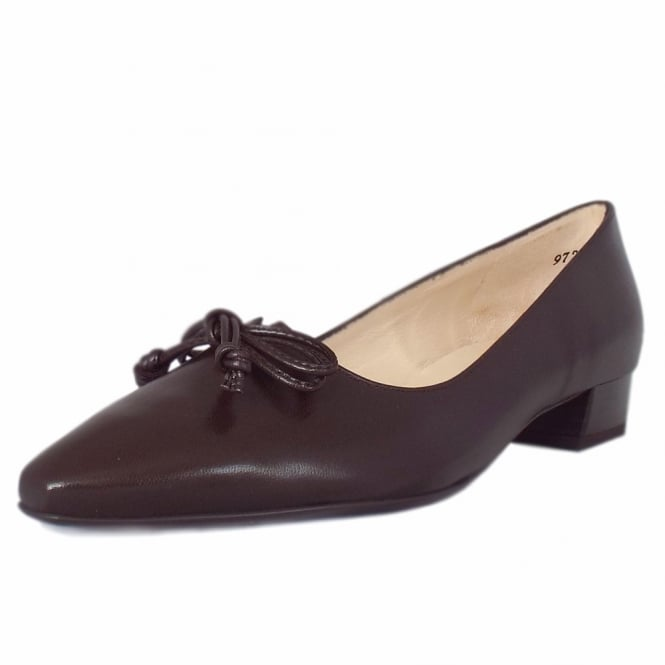 Peter Kaiser Lizzy Pointed Toe Low Heel Courts in Nuba Chevro