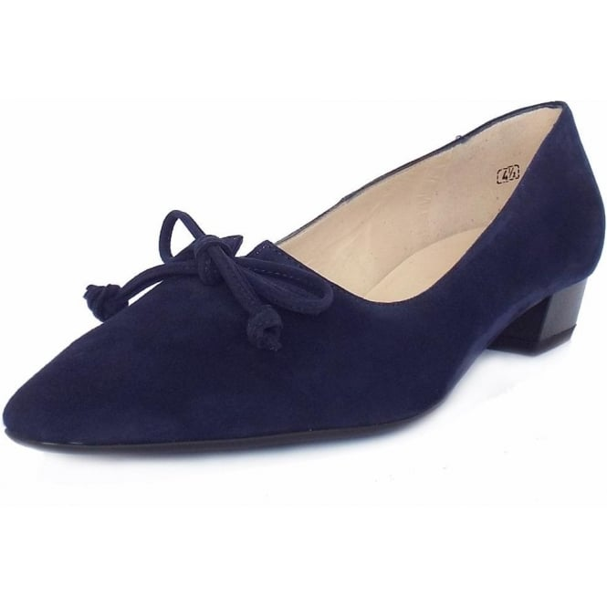 Peter Kaiser Lizzy Women's Pointed Toe Pumps in Navy Suede