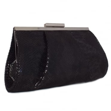 Lomasi Women's Evening Clutch Bag in Black Diano