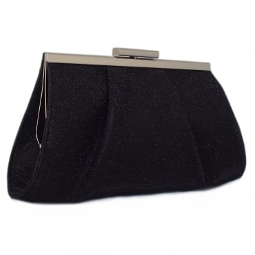 Lomasi Women's Evening Clutch Bag in Black Shimmer
