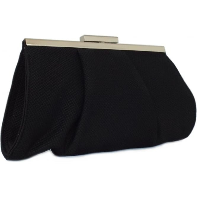 Peter Kaiser Lomasi Women's Evening Clutch Bag in Black Textile