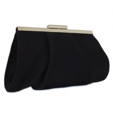 Lomasi Women's Evening Clutch Bag in Black Textile