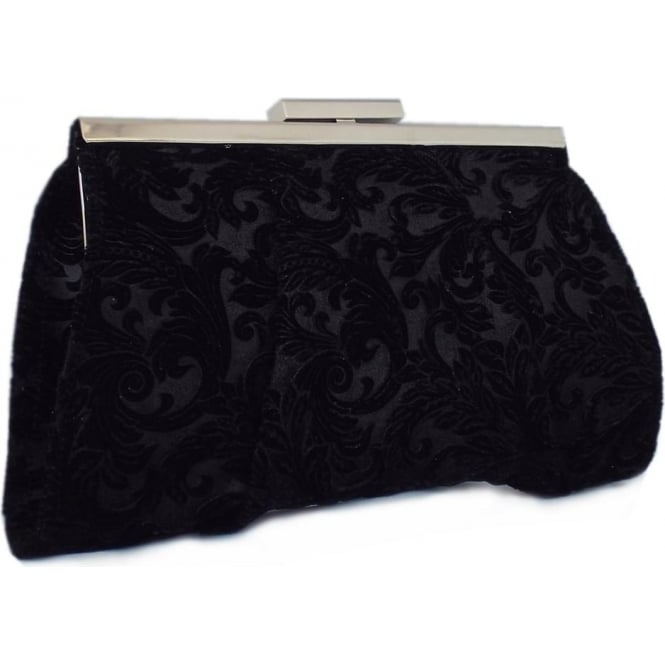 Peter Kaiser Lomasi Women's Evening Clutch Bag in Black Velvet