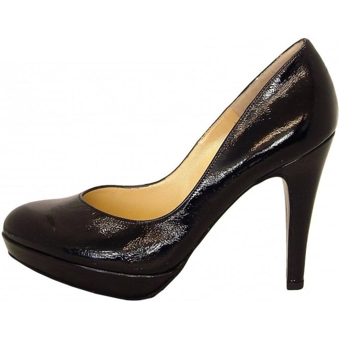 Peter Kaiser Lukrezia stiletto pumps in black clarckled patent