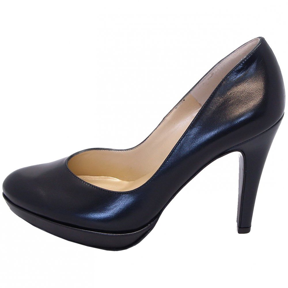 peter kaiser lukrezia stiletto pumps in navy leather mozimo. Black Bedroom Furniture Sets. Home Design Ideas