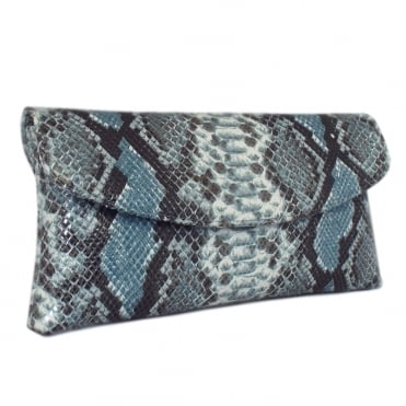 Mabel Evening Clutch Bag in Azur Diano