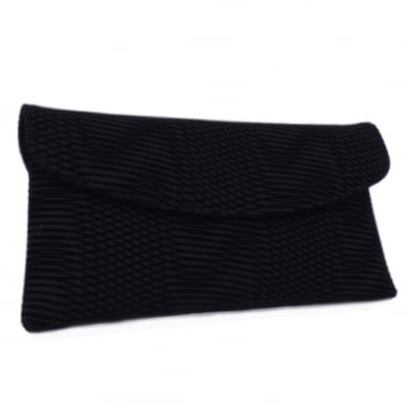 Mabel Evening Clutch Bag in Black Nico
