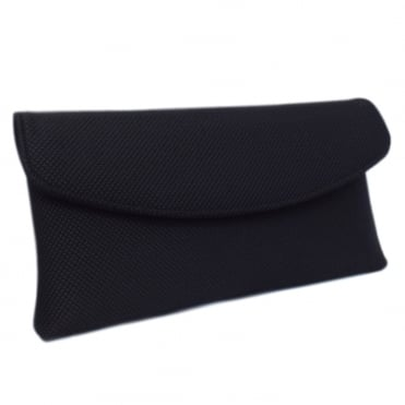 Mabel Evening Clutch Bag in Black Rombo