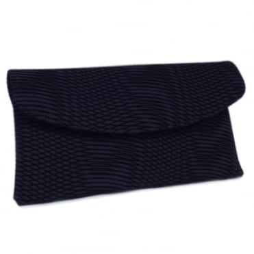 Mabel Evening Clutch Bag in Navy Nico