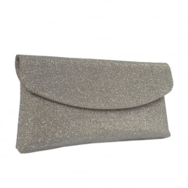 Mabel Evening Clutch Bag in Sand Shimmer