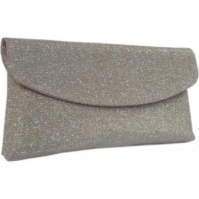 Mabel Evening Clutch Bag in Sand Shimmer