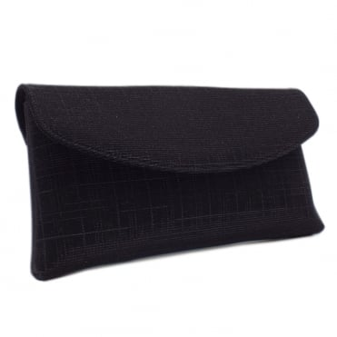 Mabel Stylish Clutch Bag in Black Shimmer