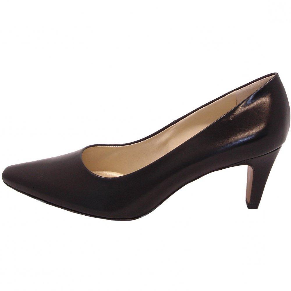 kaiser manolo black leather court shoe classic