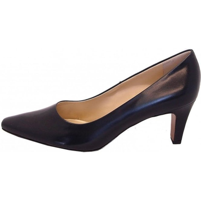 buy popular 12823 4ac47 Peter Kaiser Manolo Navy Leather Court Shoes