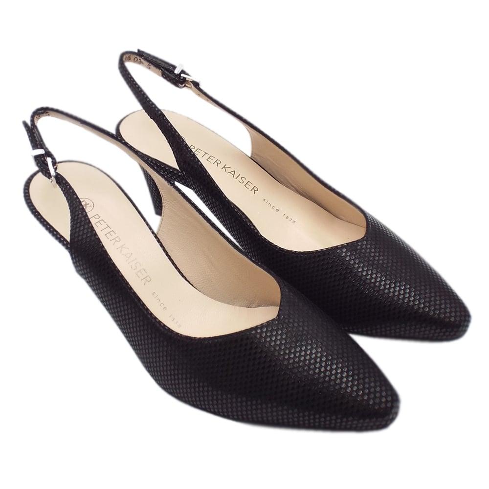 abb9316c5 Medana Dressy Mid Heel Slingback in Black Cube