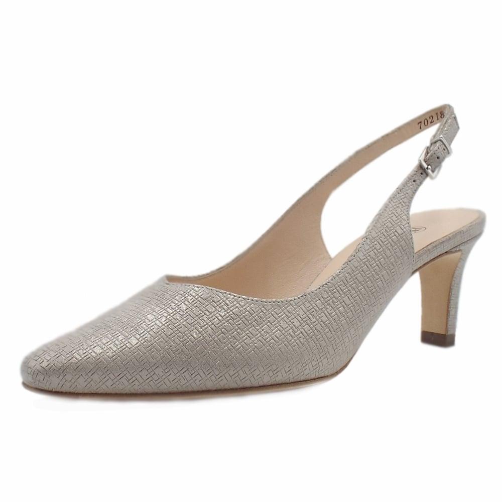 105eb5b04 Medana Dressy Mid Heel Slingback in Topas Block