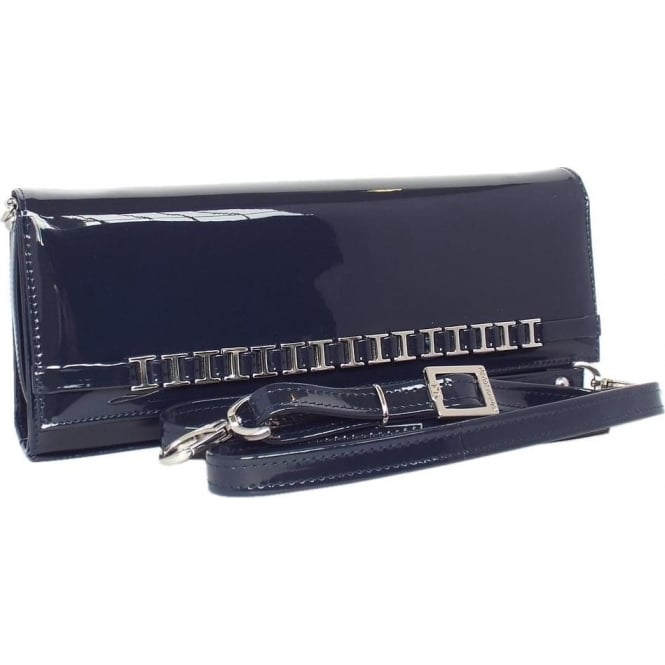 Peter Kaiser Mimi Women's Dressy Shoulder Clutch Bag in Navy Patent