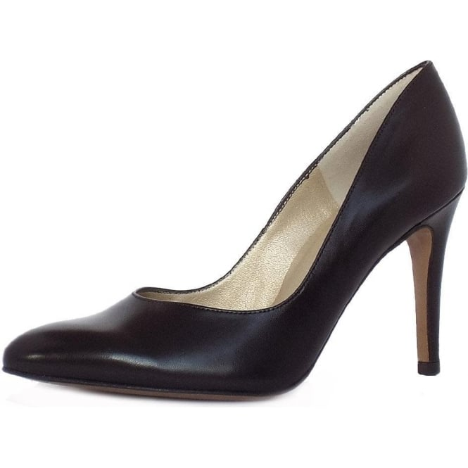 Peter Kaiser Mina Stiletto Shoe in Black Leather
