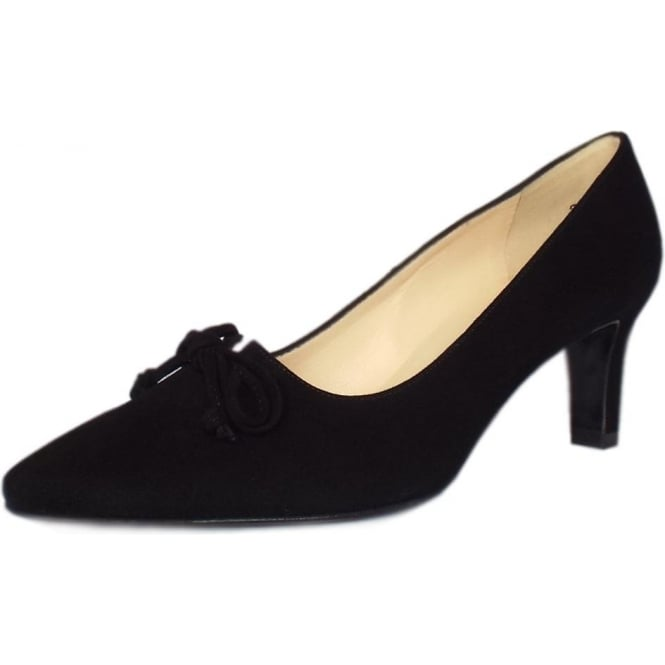 59a0d48b6bf Peter Kaiser Mizzy Women s Mid Heel Pointed Toe Court Shoes in Black Suede