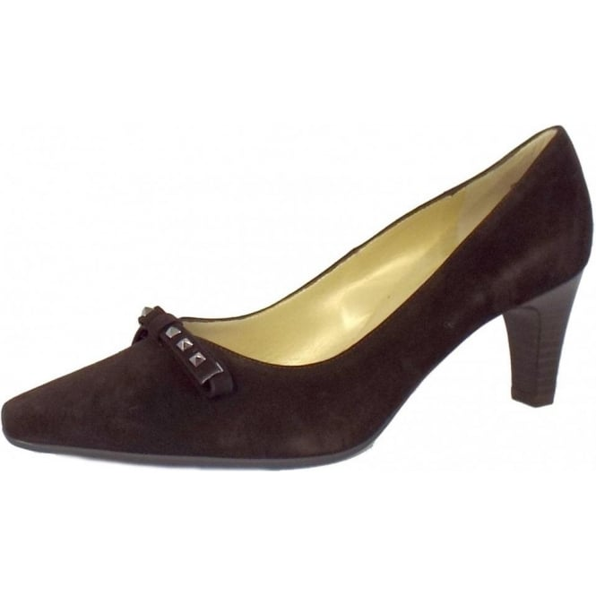 Peter Kaiser Motala Studded Detail Ladies Shoes in Brown Suede
