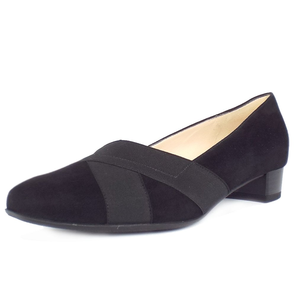 Wide Fitting Court Shoes Block Heel