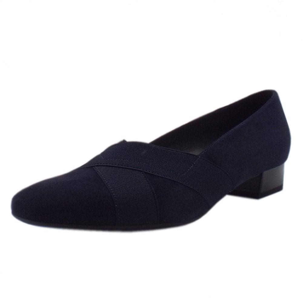 c45c9316 Peter Kaiser Nigela | Wide Fit Low Heel Smart Shoes | Navy Suede