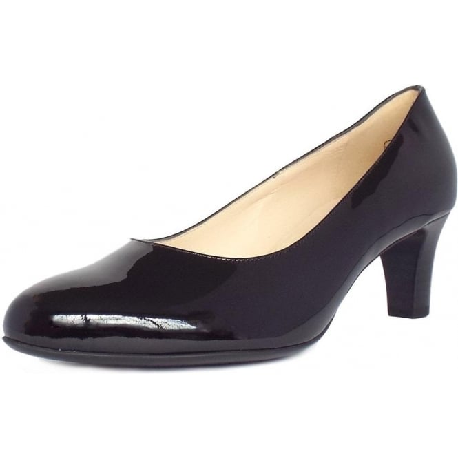 Peter Kaiser Nika Classic Court Shoes in Black Patent