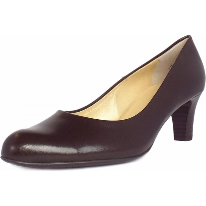 Peter Kaiser Nika Classic Court Shoes in Brown Leather