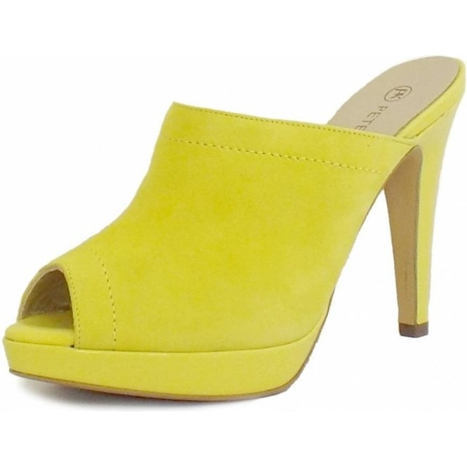 Peter Kaiser Palia Slip On Ladies Mule in Lemon Suede