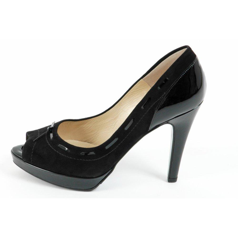 peter kaiser pallia high heel evening shoes in black peep toe small paltform stiletto black. Black Bedroom Furniture Sets. Home Design Ideas