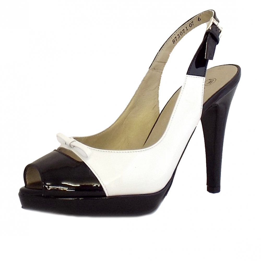 Black Lotus Slingback Shoes