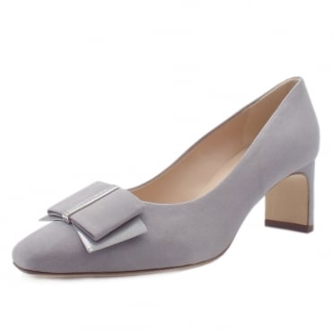 Pavilia Mid Heel Court Shoes in Topas Suede