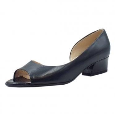 dff14f9c6c9 Pura Low Heel Open Toe Shoes in Notte Chevro