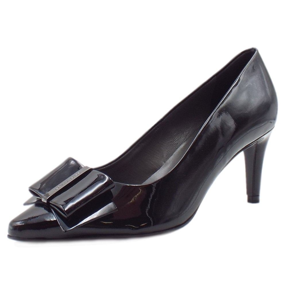 194fbbc23bf Rexa Dressy Pointed Toe Court Shoes in Black Lack