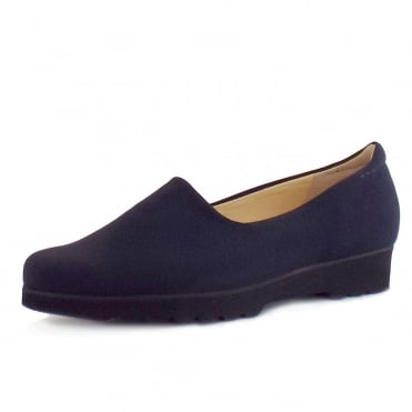 Ronda Ladies Comfortable Stretch Shoe in Navy