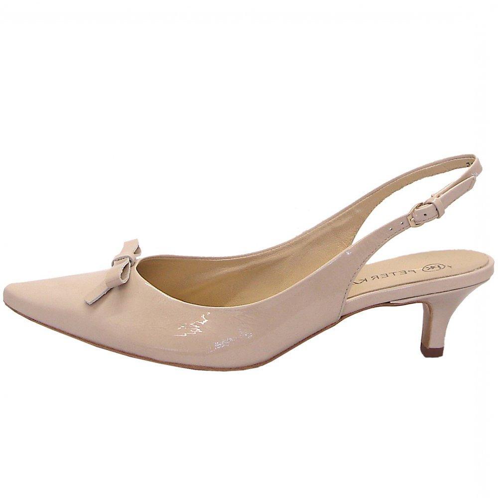 Low Kitten Heel Slingback Shoes