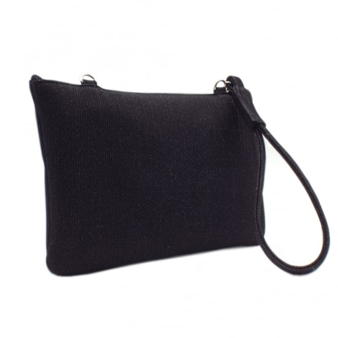 Peter Kaiser Saldina Women's Evening Clutch Bag in Classy Black Shimmer