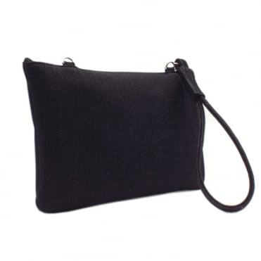 Saldina Women's Evening Clutch Bag in Classy Black Shimmer