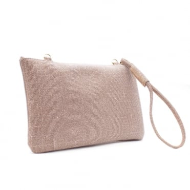 Saldina Women's Evening Clutch Bag in Classy Powder Shimmer