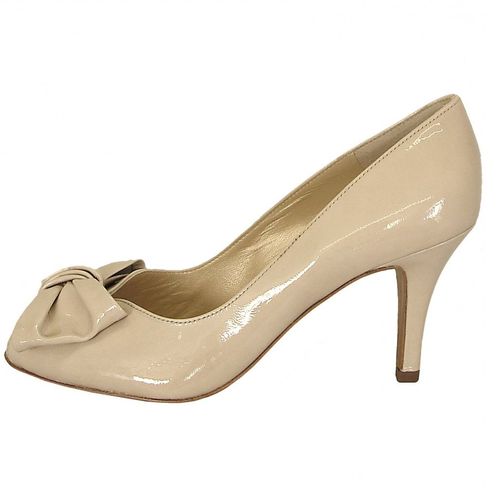 Cream Patent Court Shoes
