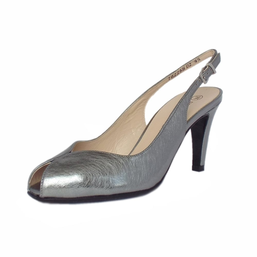 Peter Kaiser Slingback Shoes In Leather Size