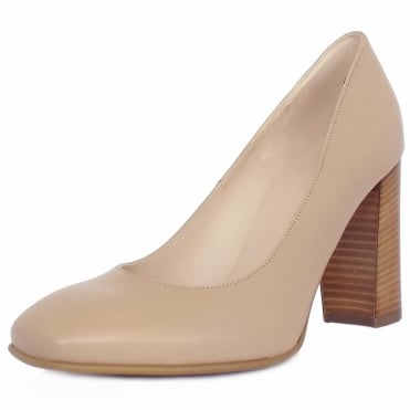 Peter Kaiser Sandy Women's Block Heel Court Shoes in Sand Leather